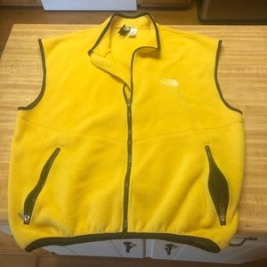 The North Face yellow vest size XL